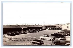 Postcard Hospital Administration Building, Camp Callan, CA RPPC  D15