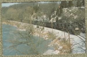 Postcard Norfolk Southern SD60 Unit No. 6619 Freight Railroad Train
