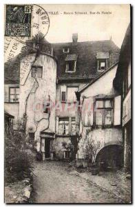 Ribeauville - Schmied House - Rue du Marche - Old Postcard