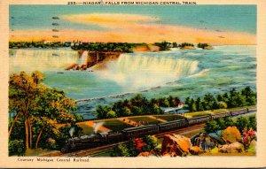 New York Niagara Falls From MIchigan Central Train 1940