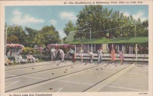 Shuffleboard Courts Mitiwanga Park Ohio Curteich