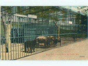 Divided-back BEAR CAGES AT FOREST PARK St. Louis Missouri MO AF7528