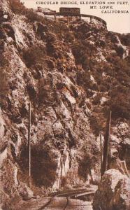 California Mount Lowe Circular Bridge Elevation 4200 Feet