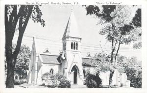 Exeter NH  Christ Episcopal Church~1940s B&W Postcard