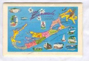 Folder postcard, BERMUDA, 50-70s