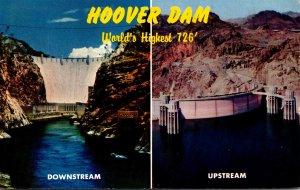 Nevada Hoover Dam Downstrean and Upstream Views 1959