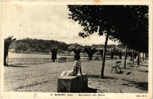 CPA SANARY Boulevard des Bains (410797)