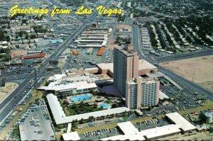 Nevada Las Vegas Aerial View Sahara Hotel 1976