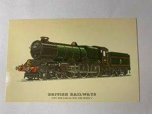REPRODUCTION VINTAGE TRAIN POSTCARD - GWR No 6000 KING GEORGE V  (KK264)