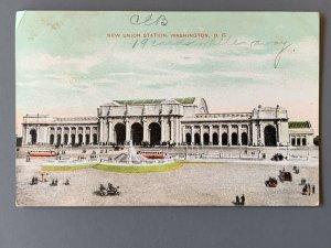 New Union Station Washington DC Litho Postcard A1186080352