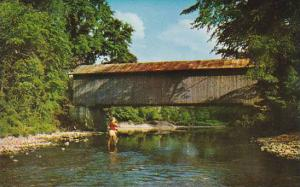 Covered Bridge Cavendish Old Covered Bridge Over Trout River At Cavendish Ver...
