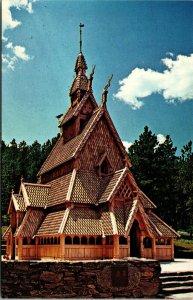 Postcard SD South Dakota Chapel in the Hills Rapid City Church Unposted
