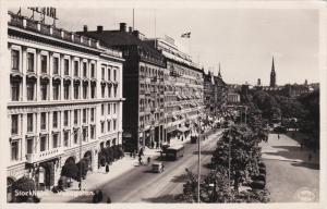 RP; STOCKHOLM, Sweden; Vasagatan, Classic Cars, PU-1954