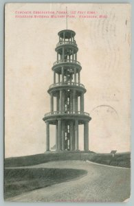 Vicksburg Mississippi~Concrete observation Tower~Vintage Postcard
