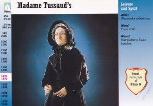 Madame Tussauds Unique Postcard Trading Card Rare Photo Ephemera