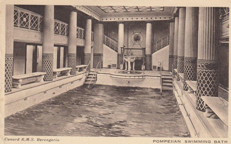 Ocean Liner Cunard R.M.S. Berengaria , Pompeiian Swimming Bath , 1910-30s