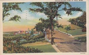 Minnesota St Paul Indian Mounds Park 1946 Curteich