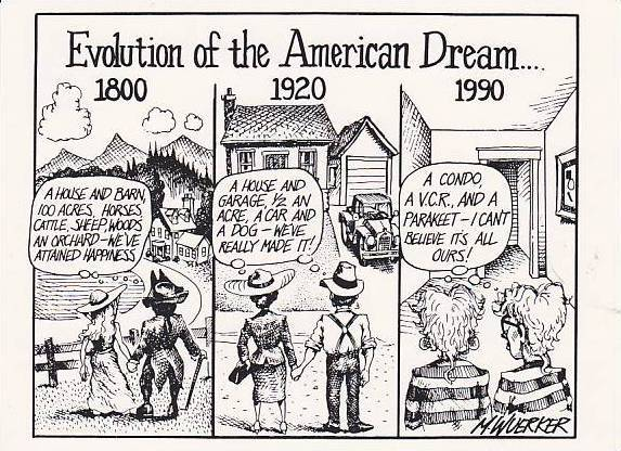 Satirical Social Life Comic Less Is More Evolution Of The American