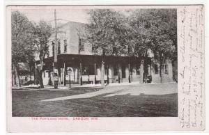 The Portland Hotel Oregon Wisconsin 1906 postcard