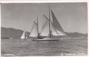 RP: Sailboats , Acapulco . Mexico , 30-50s
