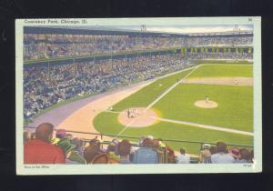 CHICAGO WHITE SOX COMISKEY PARK BASEBALL STADIUM ILLINOIS VINTAGE POSTCARD
