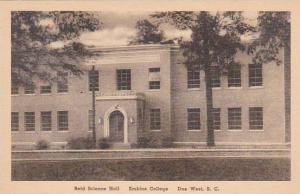 South Carolina  Due West Reid Science Hall Erskine College Albertype