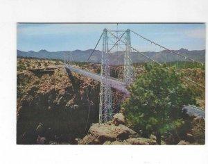 Vtg 50's Royal Gorge Bridge, Colorado Kodachrome Postcard