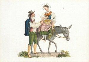 Switzerland swiss early folk costumes ethnic types Ticino