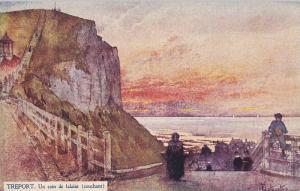 Le Tréport , France , 00-10s : Un coin de falaise (couchant)