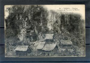 INDOCHINA TONKIN Stilted house of ethnic minorities of N. Vietnam  1900's