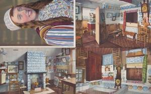 Marken Costume Kitchen 4x Dutch Vintage Postcard s
