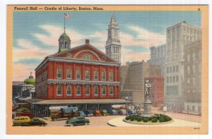 Boston, Mass, Faneuil Hall - Cradle of Liberty