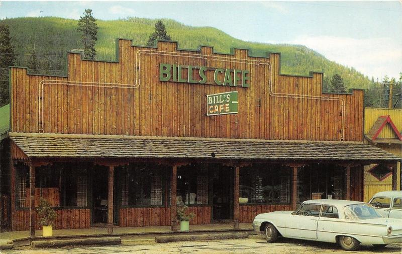 Grand Lake Village Colorado~Bill's Cafe~Classic Car Parked in Front~1950s Pc