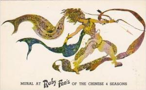 New York City Mural At Ruby Foos Of The Chinese 4 Season Restaurant 1959