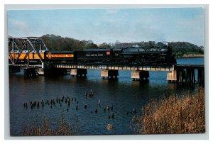 Vintage 1981 Postcard Chesapeake & Ohio Railroad Seaboard Coast Line Florida