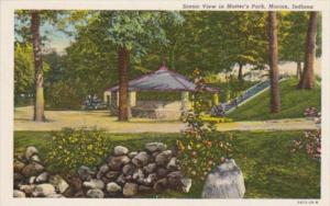 Indiana Marion View In Matter's Park 1937 Curteich