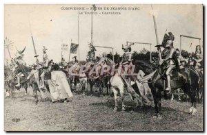 Compiegne Old Postcard Fetes de Jeanne d & # 39arc The Knights Tournament