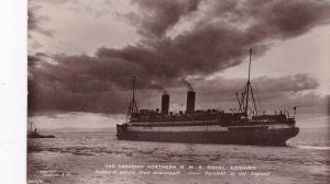 RP; R.M.S. ROYAL EDWARD Outward bound,Avonmouth, England, PU-1914