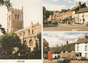 Syston Leicester Shops BT Phone Box 1980s Leicester Postcard