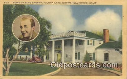 Bing Crosby, North Hollywood, CA USA Movie Star, Actor / Actress, Post Card P...
