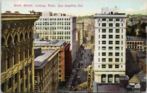Sixth Street Los Angeles CA California UNUSED O. Newman Postcard E56