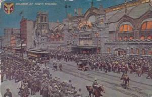 Illinois Chicago Coliseum At Night 1911
