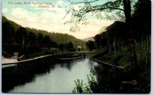 Chester, West Virginia Postcard The Lake, ROCK SPRINGS PARK Valentine c1910s