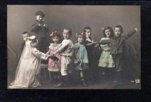 026231 Kid's Wedding & Musician VIOLIN TOY old PHOTO