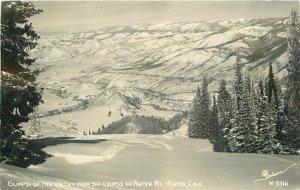 Aspen Colorado Sanborn Ski Course #W-33161949 RPPC Photo Postcard 2-6612