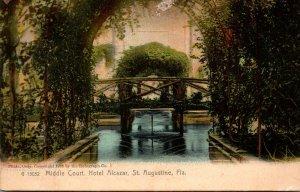 Florida St Augustine Hotel Alcazar Middle Court Rotograph
