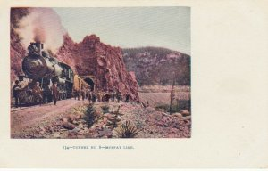 Train at Railroad Tunnel No.8 , MOFFAT LINE , Colorado , 1901-07