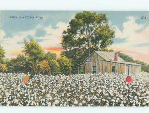 Linen Black Americana CABIN ON FARM FIELD AC0516