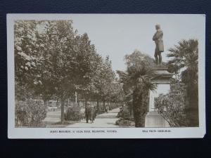 Australia MELBOURNE Burn's Monument St. Kilda Rd - Old RP Postcard by Valentine