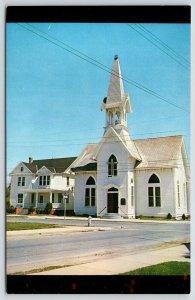 Harrington Delaware~Asbury Methodist Church~Belfry~Parsonage~FW Brueckmann~1950s